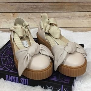 NWOB Fenty Puma Bow Leather Creeper Sandal - 8.5